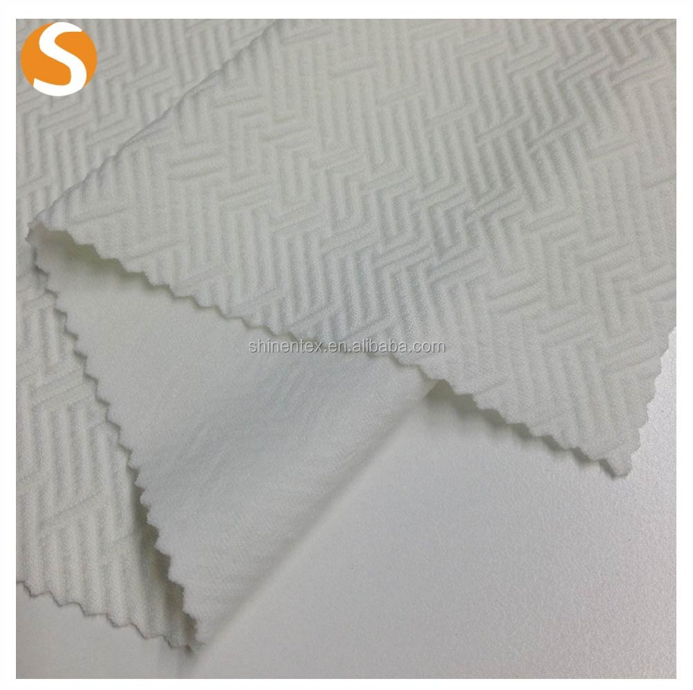 Fancy Kniting solid jacquard polyester spandex fabric Wholesale