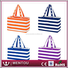 Wholesale Personalized Monogram Striped Ultimate Game Tote Bag