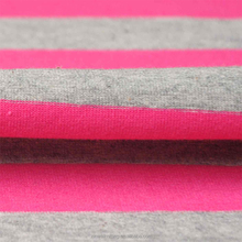 Soft stretch cotton lycra striped knit jersey material fabric by the yard