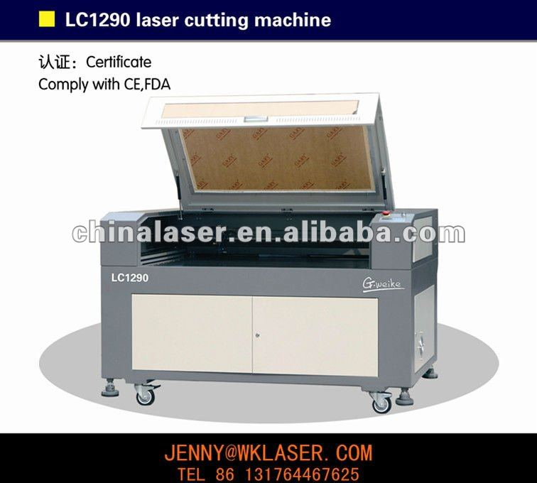 Acrylic cnc machine MDF garments, leather Laser CUTTER LC1290