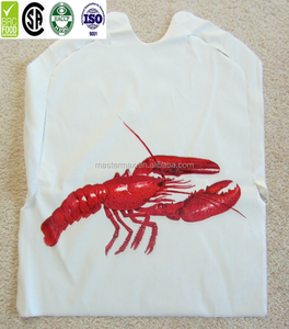 2019 Disposable Plastic PE Crab lobster Bibs