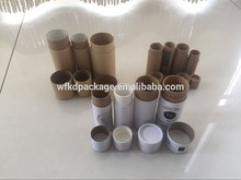 Customized kraft paperboard push up tubes for wholesales