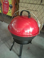 Newest kamado ceramic grill with iron wire handle