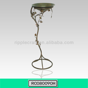 Outdoor Garden Iron Bird Bath