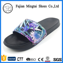 pu leather upper of slides slipper sandals men