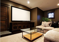 "120""(16:9) Home Cinema Silver 3D Fabric Fixed Frame Projection Screen"