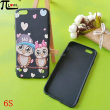 Custom embossed painting cute owl soft tpu cell phone case cover for iphone 6 and 6S