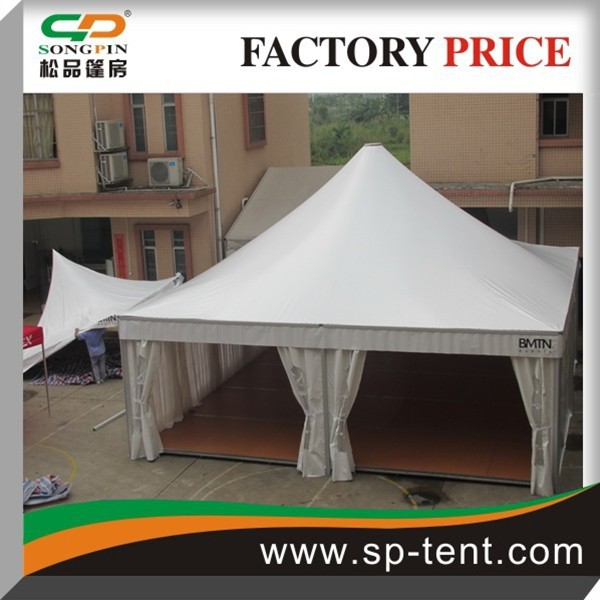 big luxury aluminum frame 8x8m pagoda tent with wooden flooring romantic lining tent for event