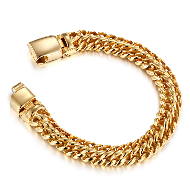 Fashion bracelet gold hand chain fashion design wholesale stainless steel dubai gold chain