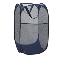 Folding kids room travel portable collapsible for storage and easy to open Popup Mesh Laundry Hamper