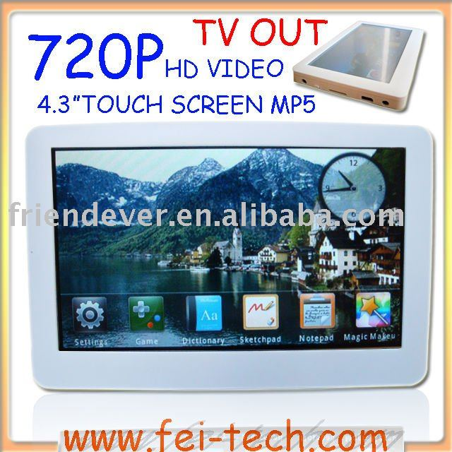 "4.3"" touch screen mp4 king"
