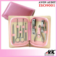 Deluxe 9pc Stainless Steel Travel Manicure Pedicure Kit