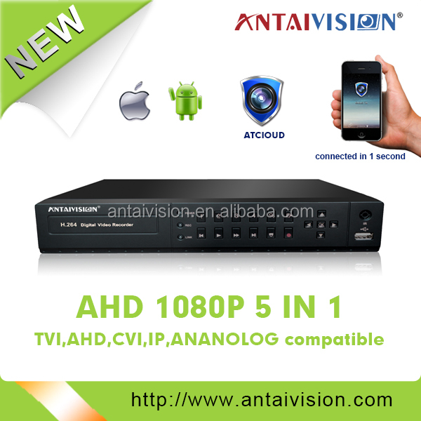 8CH 1080P CCTV DVR & NVR TWO IN ONE Support analog ip AHD camera 5 IN 1 with APP Control