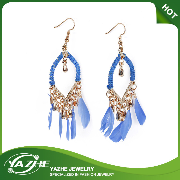 2016 Hot Sale Jewelry Earrings Daily Wear Earrings Feather Earrings