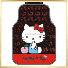 new design cute car floor mats for hello kitty/pink car mats