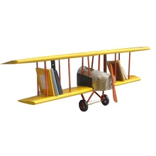 New Design Plane Book <strong>Shelf</strong> 1:1 Scale 100% Handmade Vintage Iron Airlane Model Home Decoration Metal Crafts