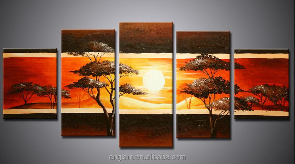 sans cadre moderne paysage africain peinture peinture et calligraphie id de produit 1942383182. Black Bedroom Furniture Sets. Home Design Ideas