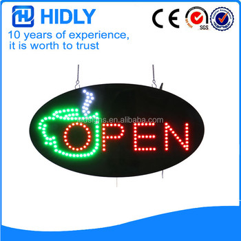 Animated Motion Running LED Business Store Shop Open Sign Chain