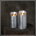 TECMO Metalic series battery operated with remote contral flameless moving wick wax LED candle