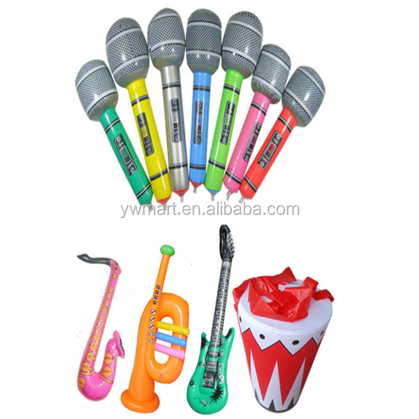 Party PVC inflatable instrument,inflatable guitar,inflatable music instrument toys for kids