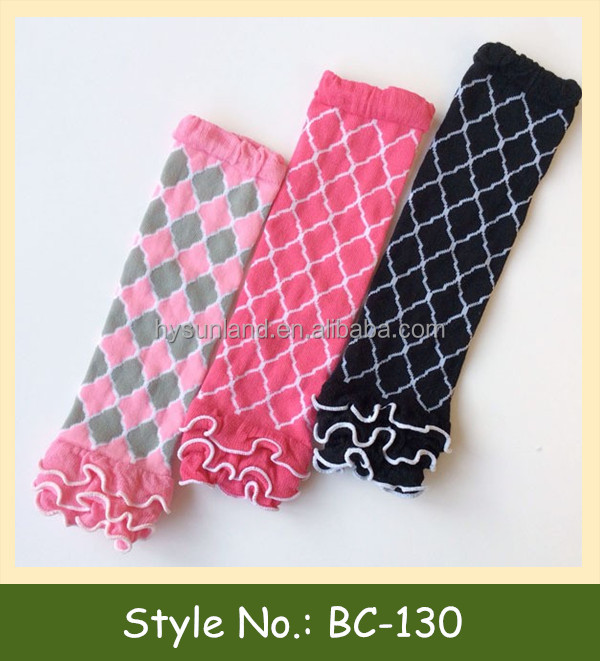 2015 new custom knitted fashion knitted wholesale baby leg warmers