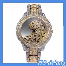 HOGIFT japan movt quartz watch stainless steel back roles watches women gold diamond watch