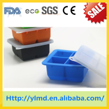 Diamond shape silicone ice cube tray
