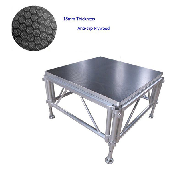 18mm Aluminum frame Anti-slip stage Platform for Church