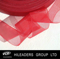 DNA092 Chinese Red Tissue Ribbon Organza Ribbon