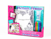 DIY Wooden Toy Decorating Coloring Your Own Wooden Photo Frame