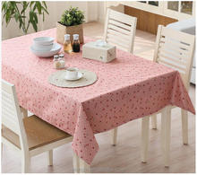 Plastic PVC Waterproof Anti-Wrinkle Disposable Tablecloths Rectangular Coffee Table cloth