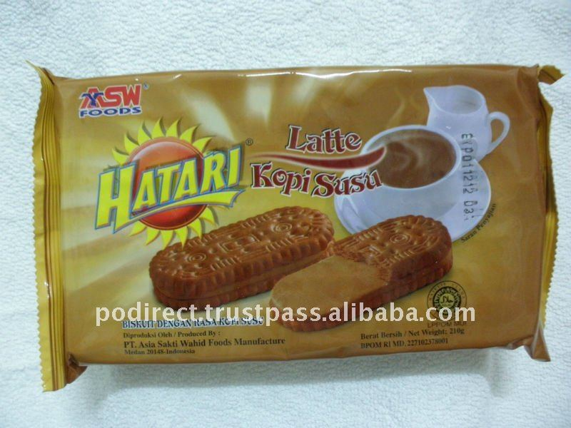 Hatari Latte Kopi Susu, biscuit, cookies, crackers