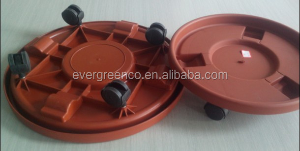 plant saucer with wheels plastic flower pot saucer plastic moving tray
