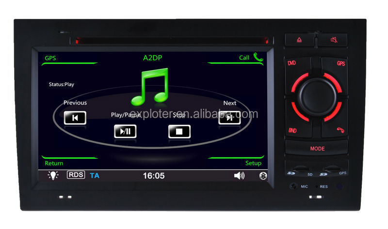OEM Car DVD Navi GPS Player with BT Ipod for A4 S4 RS4 RNS