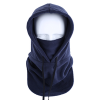 Winter Hats Solid Color Balaclava Winter Fleece Ski Half Face Mask Hood Neck Warmer for Motorcycle