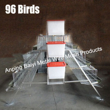 Wire Mesh Layer Baby Chicken Cages Rearing House