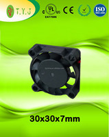5v 30x30x7mm dc brushless mini cooling fans UL CE certificate 3007 cooling fan