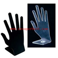 acrylic hand shape jewelry store finger ring display stand