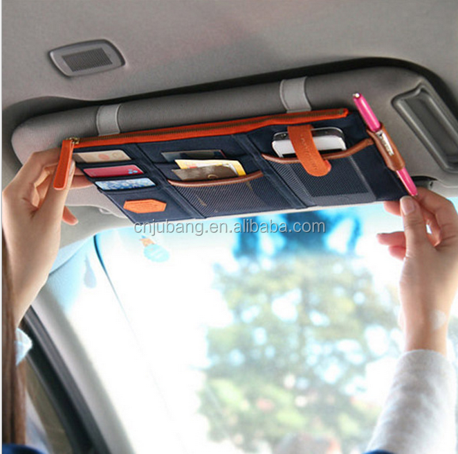 Cards Card CDs Mini Car Visor Organizer, Nylon Sturdy Car Sun Visor Organizer / Uninversal Car visor storage holder
