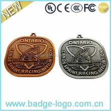 custom canoe sprint racing metal medals