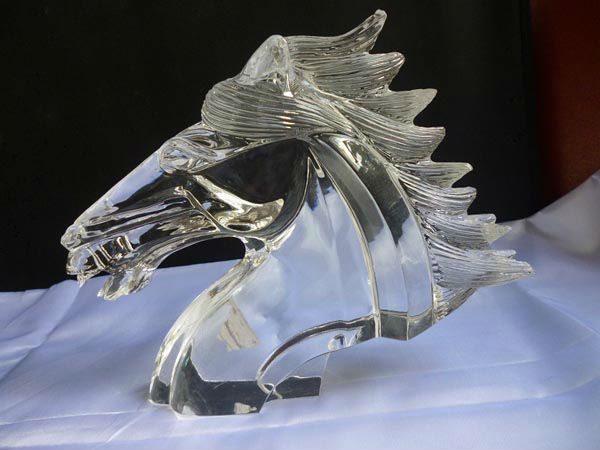new arrival lifelike crystal horse head
