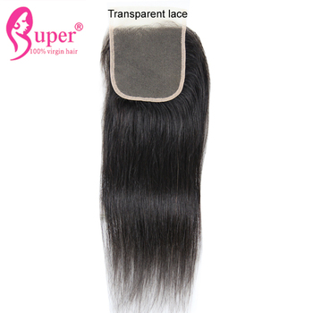 Malaysian Human Hair Vendor 5x5 Transparent Lace Closure For Beautiful Afro Weave Bundle Hairstyles