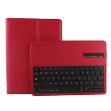 Bluetooth keyboard flip PU leather back cover for iPad 6