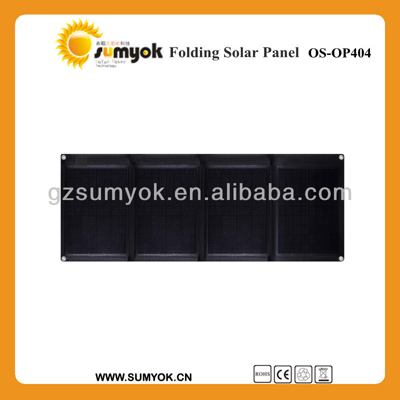 Guangzhou poly 40w foldable solar panel 12v OS-OP404 portable power battery charger