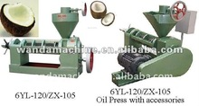 2012 strongly recommend No.1 product 6YL -120 coconut oil expeller machinery