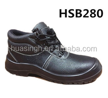 steel toe and plate black liberty safety shoes for construction workers