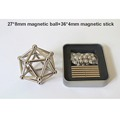 DIY 27 magnetic ball and 36 magnetic stick Magnetic Sculpture Desk Toys for Intelligence Development and Stress Relief