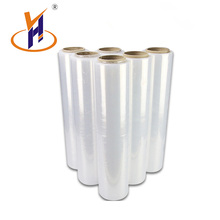 Low MOQ pallet shrink wrap clear raw material transparent pe stretch film for packing