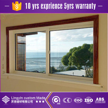 Guangzhou upvc small sliding security windows for home