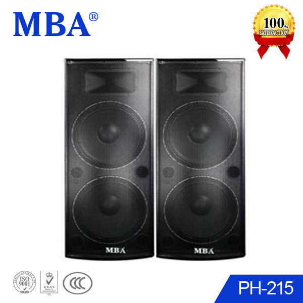 China DJ concert speaker system 15 inch wood speaker box with usb,horn,mp3 player